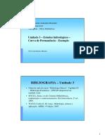 UNIDADE 3 - Estudos Hidrológicos - Curva de Permanencia - Exemplo