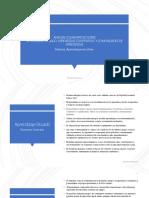 Análisis sobre ambientes de aprendizaje en la modalidad en línea.