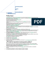 Política Fiscal