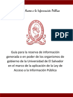 Guía Para Reservar Información Organismos