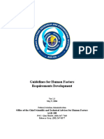 Human Factors Requirements Guide Ver1.3 Federal Aviation Administration