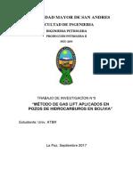 SISTEMA GAS LIFT EN BOLIVIA