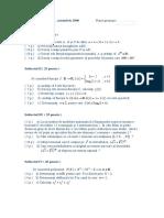 Test Clasa a XI a MI , Evaluare Oct.2006