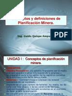 Conceptos y Definiciones de Planificación Minera