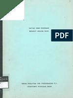 0000 Daftar Jenis Pekerjaan Menurut Analisa B.O.W