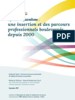 Synthese Insertion Et Parcours Diplomes Journalisme