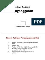 Sistem Aplikasi Penganggaran