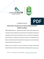 Andrew Hart is a Driving Force for Fulcrum Partners Executive Benefits Consulting