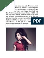 Amy Winehouse's Biography