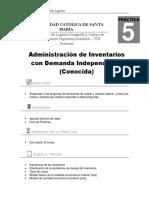 Práctica N°5_ADminsitración de Inventarios Demanda Independiente_2017