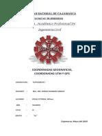 Informe Coordenadas y Gps