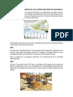 Diez Temblores Fuertes de Los Últimos Diez Años en Guatemala
