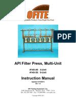 OFITE API Filter Press Multi-Unit 140-40