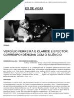 Vergílio Ferreira e Clarice Lispector_ Correspondências Com o Silêncio _ Revista Pontes de Vista