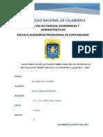 Proyecto de Evasion Tributaria en Las Mypes Avance 80 %