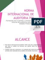 AUDITORIA 700- 799 Formación de La Opinión y Emisión Del Informe de Auditoria Sobre Los Estados Financieros