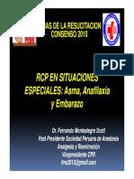 RCP Situac Especiales Anafilaxia, Asma y Embarazo 2010