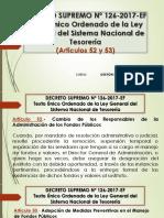Decreto Supremo Nº 126-2017-Ef (Artículos 52 y 53)