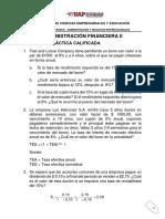 Práctica Calificada 2017 II ADMINISTRACIÓN FINANCIERA II