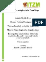 Actividad 1- Caracteristicas Del Derecho Constitucional y Cuadro Comparativo