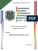 Documento Principios de Conservación