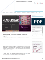Renderizar, Tutorial Adobe Premier Pro CC - Escape Digital