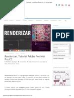 Renderizar, Tutorial Adobe Premier Pro CC - Escape Digital