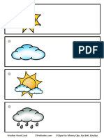 Weather Word Cards Blank