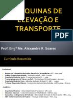 Máquinas de Elevação e Transporte - Aula 1