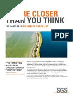SGSCBEISO 14001 Readiness ChecklistA4ENLR1610