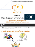 2.2.2 Introducción Metodos Cualitativos-cuantitativos