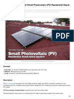 Calculating Small Photovoltaic PV Residential Stand-Alone System