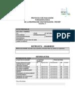 Protocolo de Evaluación Fonoaudiológica