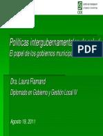 110819 PoliticasIntergubernamentalesSalud LFlamand v3