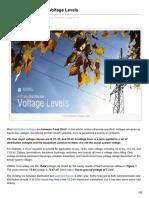 Primary Voltage Levels