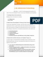 Checkliste Jobinterview Vorbereitung