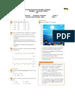 Taller Refuerzo y Recuperación Aritmética 7