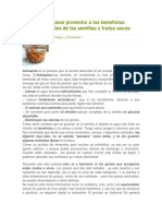 Cómo Sacar Provecho a Los Beneficios Nutricionales de Las Semillas y Frutos Secos