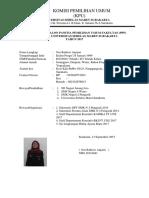 Form Biodata PPF