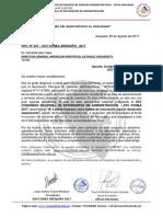 Carta de Invitación Director General American Pontifical Catholic University
