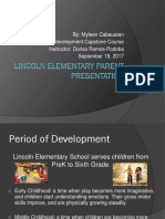 lincoln elementary parent presentation