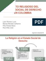 Aspecto Religioso Del Estado Social de Derecho En Colombia
