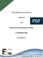 Reglamento Interno FACO