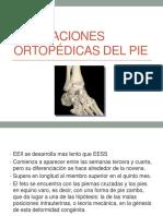 7. Afecciones Ortopèdicas Del Pie.