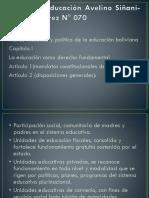 Ley de La Educación Avelino Siñani-Elizardo Pérez N