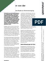 """""""Das Märchen von der Stromlücke"""" - Greenpeace Factsheet zur Stromversorgung"""
