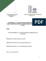 """""""DESARROLLO Y VALIDACIÓN DE UN MÉTODO ANALÍTICO PARA CUANTIFICAR FENOL Y BENZOCAÍNA EN UN ENJUAGUE BUCAL"""