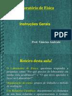 Instruções Gerais e Estrutura de Um Relatório.