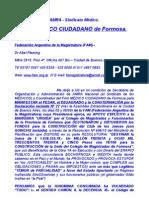 Carta de AMRA y el Foro Médico Ciudadano a la FAM, Federación Argentina de la Magistratua(2)