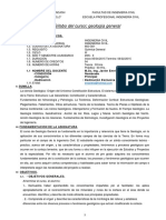 Silabo de Geologia General 2015-I